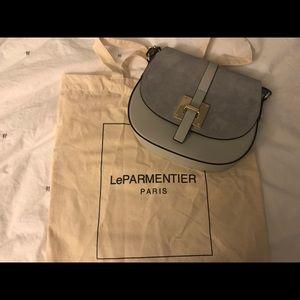 af551564b le parmentier Bags - Le Parmentier Pollia Gray Leather&Suede Crossbody